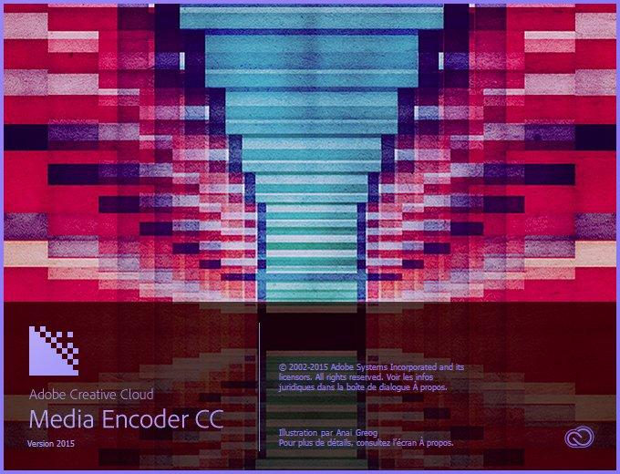 Popup ouverture Media Encoder CC 2015