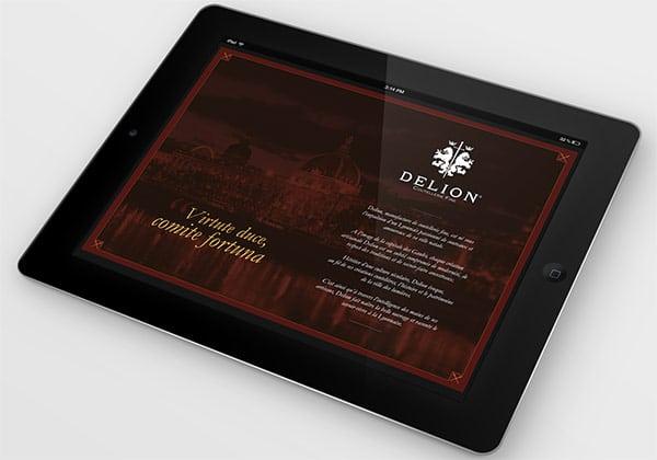 Communication digitale Delion, déclinaison sur iPad
