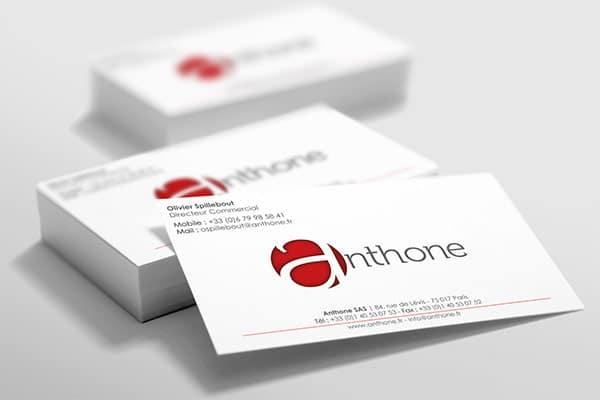 Création de cartes de visite Anthone