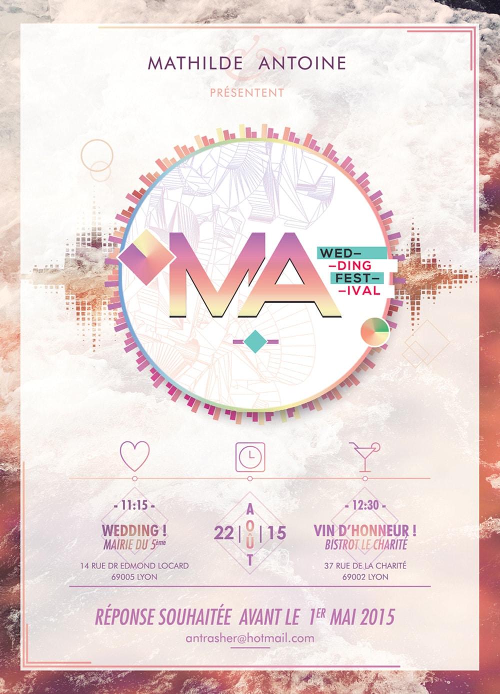 Design graphique mariage - flyer