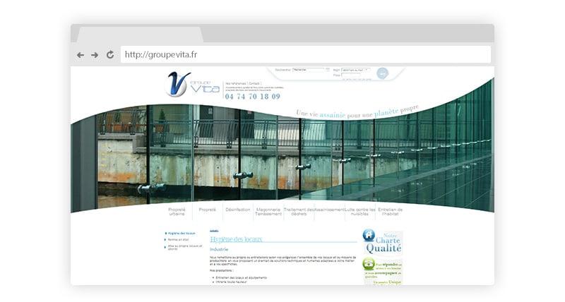 Création site vitrine du Groupe Vita