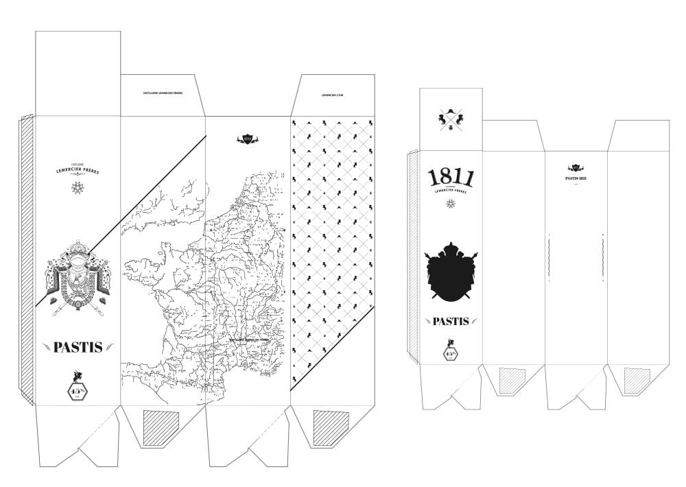 Gabarit packaging Pastis 1811