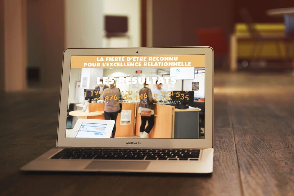 Présentation digitale HTML5 avec parallax scrolling