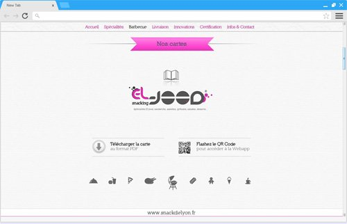 Création site internet snack restaurant