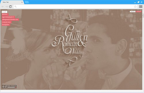 Création site internet mariage