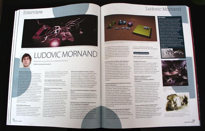 Interview sur le magazine Advanced Creation HS 09