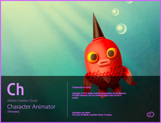 Popup ouverture Character Animator CC 2015