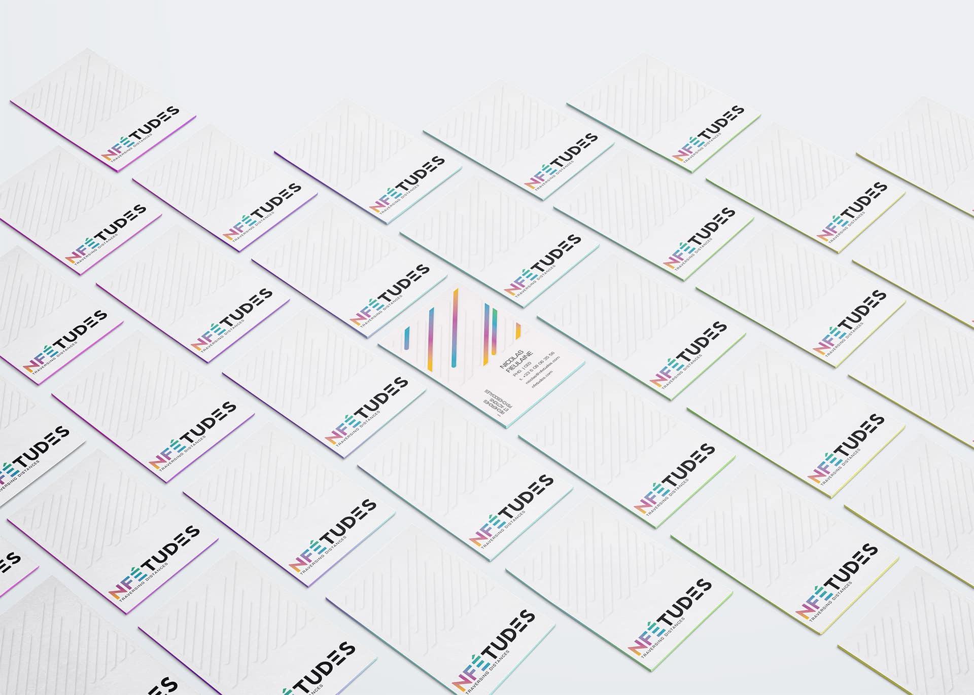 Cartes de visite - Identité visuelle cabinet de recherche