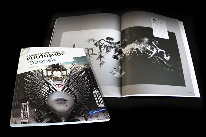 """Publication d'une composition graphique / Photomontage dans le livre d'Oracom """"Savoir Tout Faire Sur Photoshop"""""""