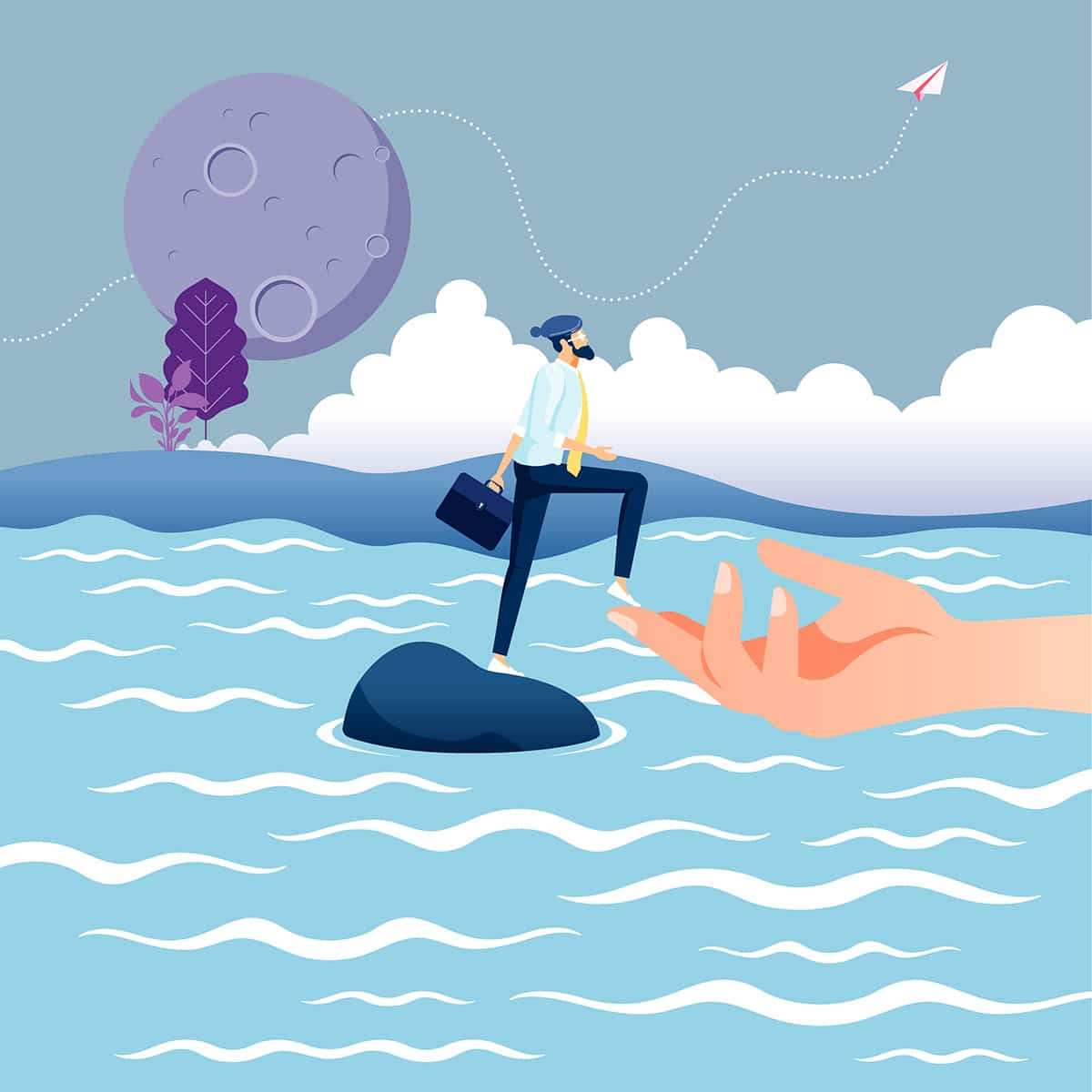 Illustration Flat - Conseil en communication