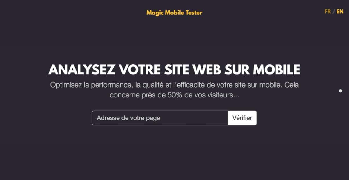 analysez votre site web sur mobile