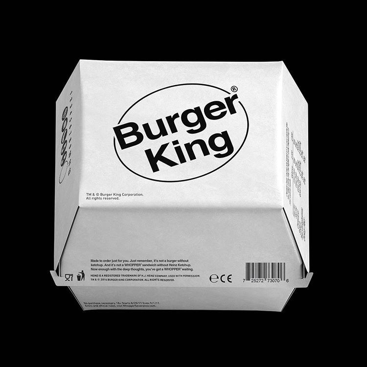 Packaging minimaliste Burger King