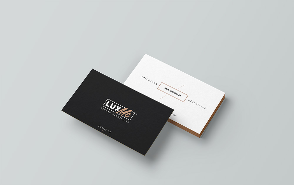 Communication print, carte de visite Lux Me