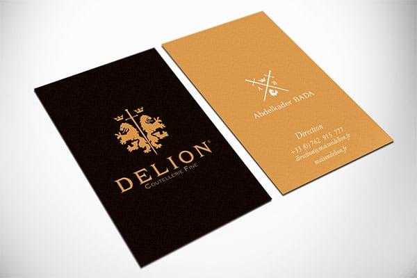 Cartes de visite Delion