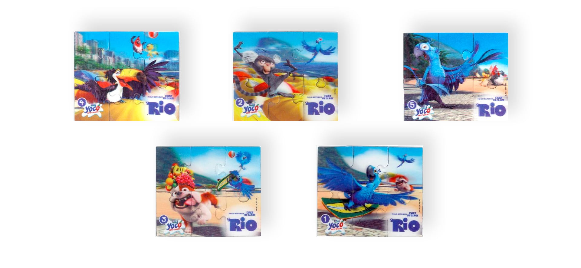 Collection magnets puzzle 3D Yoco