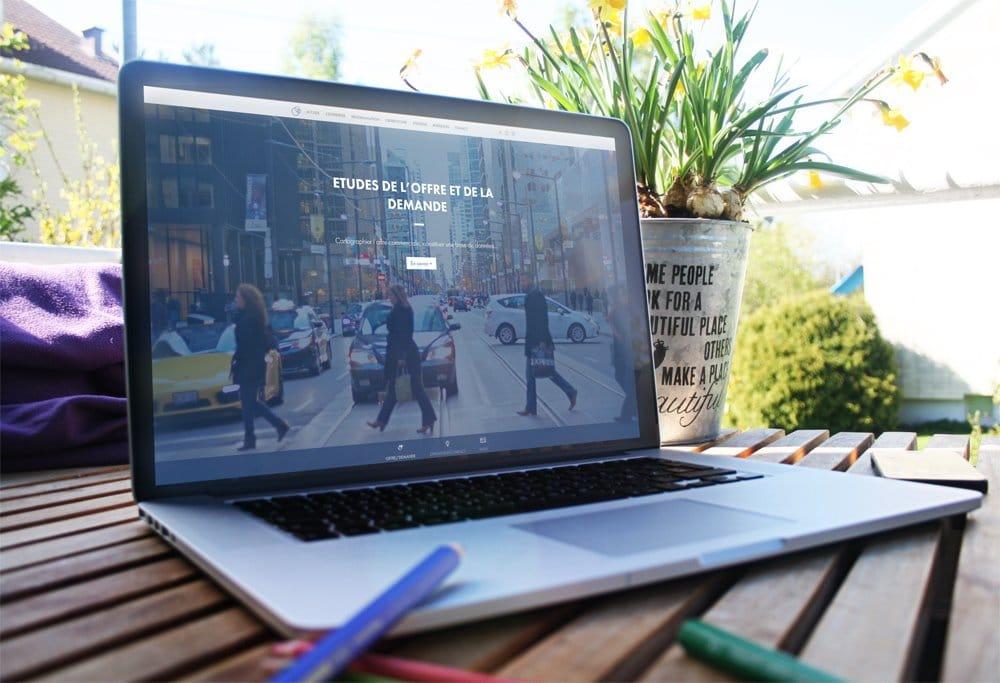 Communication visuelle - réalisation site web