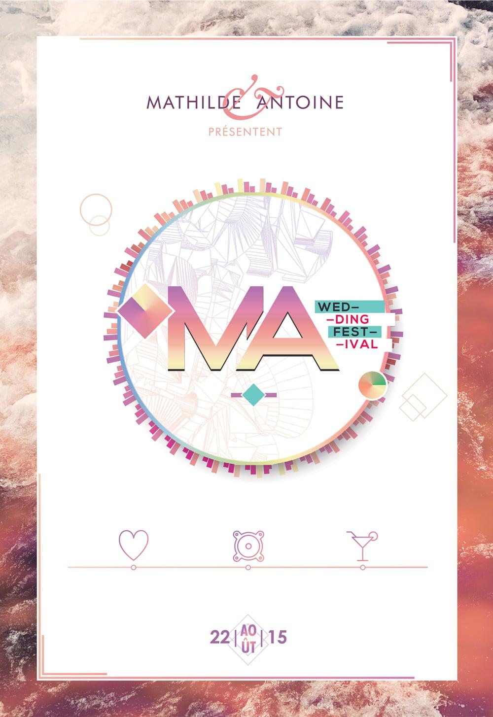 Design graphique mariage - affiche