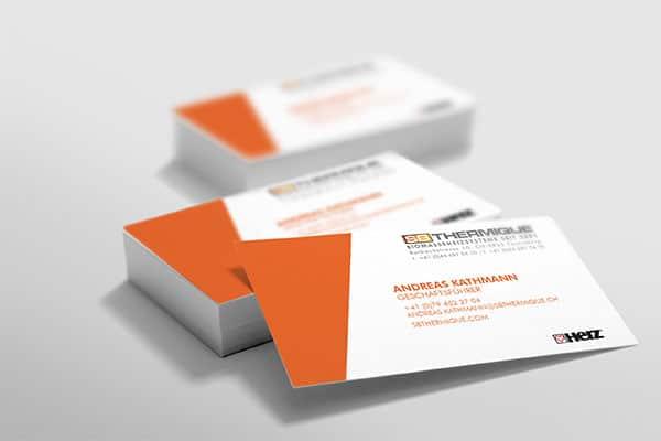 Communication print - cartes de visite SB Thermique