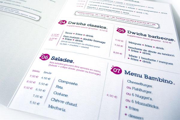 Création du menu papier El Jood