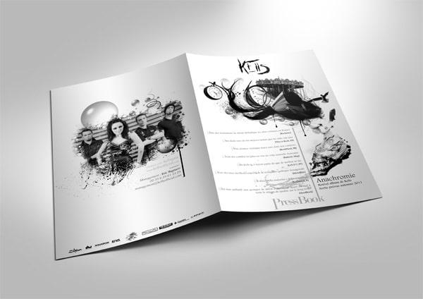 Création artwork pressbook