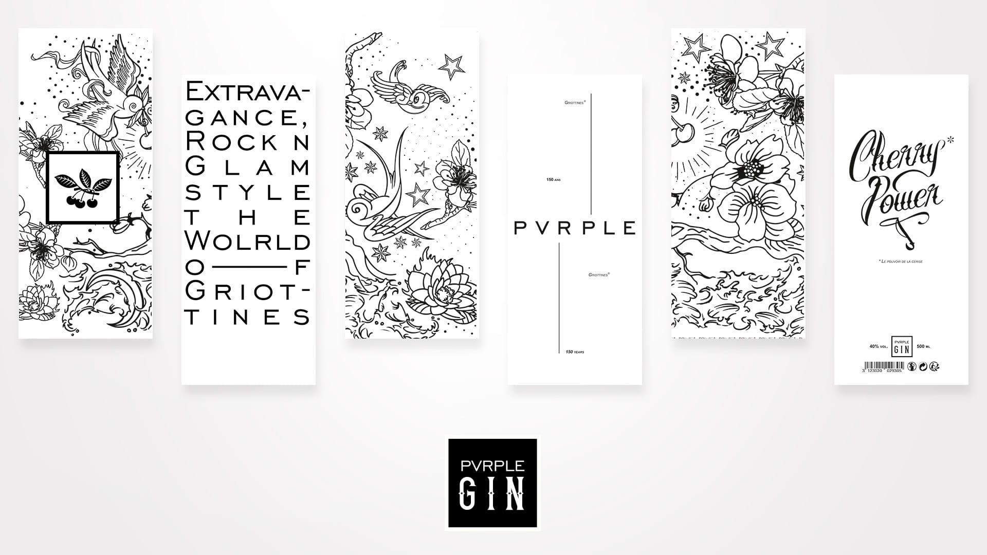 Elements Packaging design Pvrple Gin