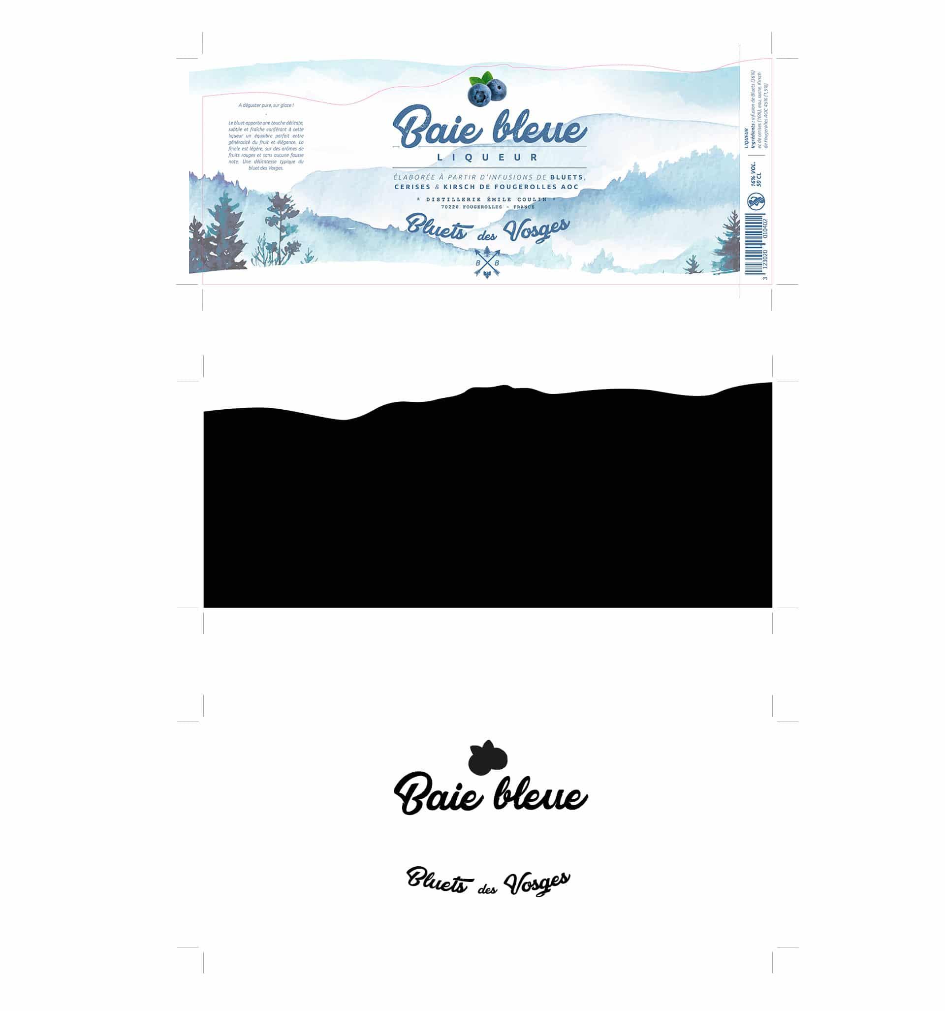 Refonte de l'étiquette Baie Bleue