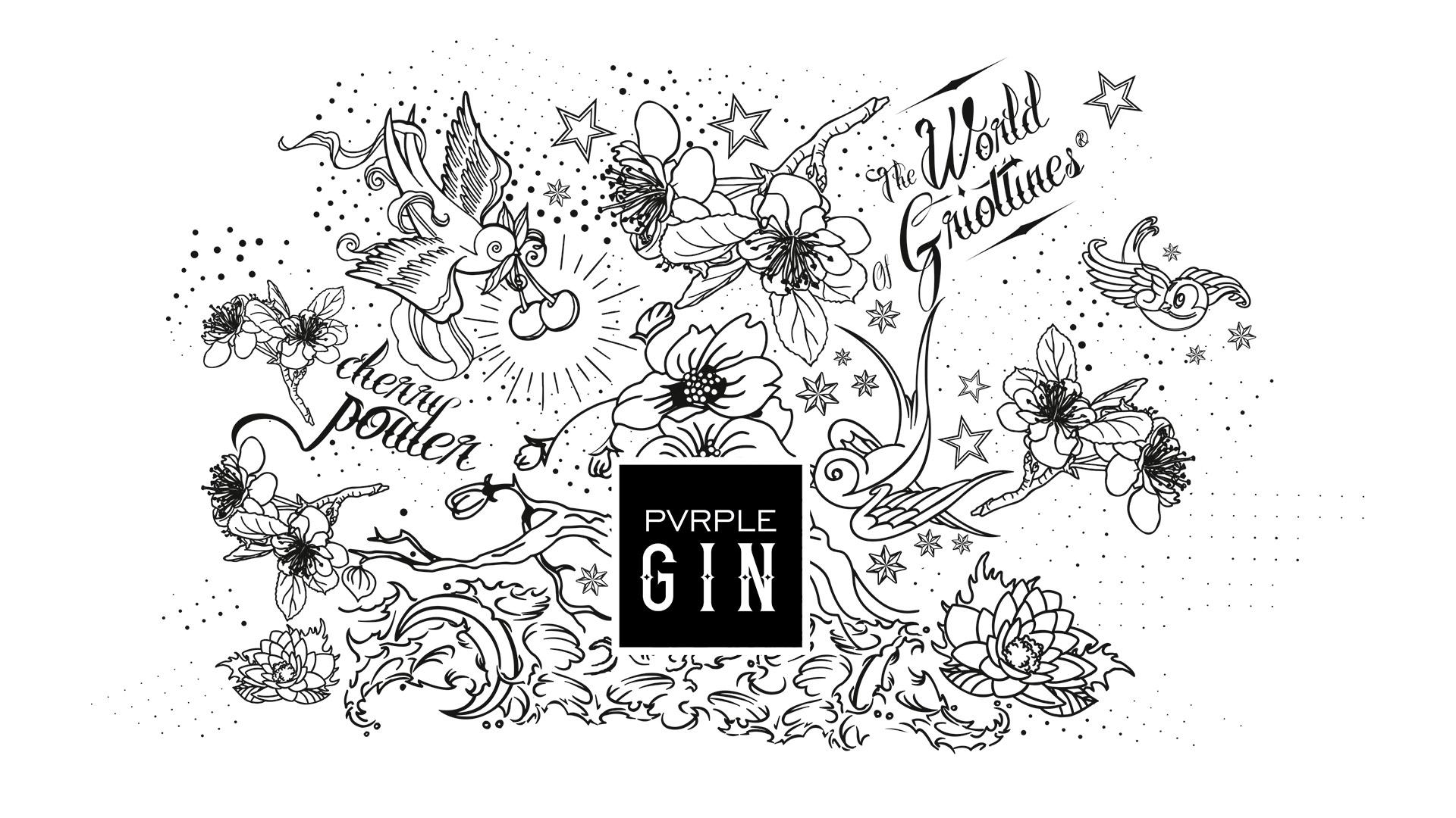 design graphique Pvrple Gin