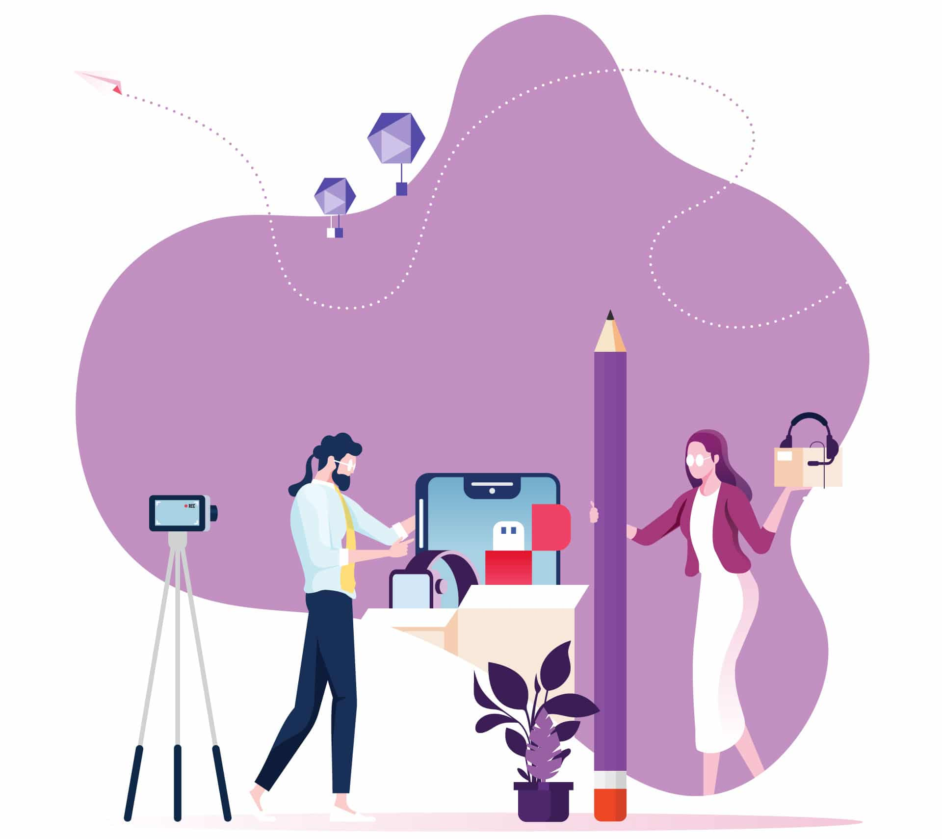 Illustration flat - Production Audiovisuelle