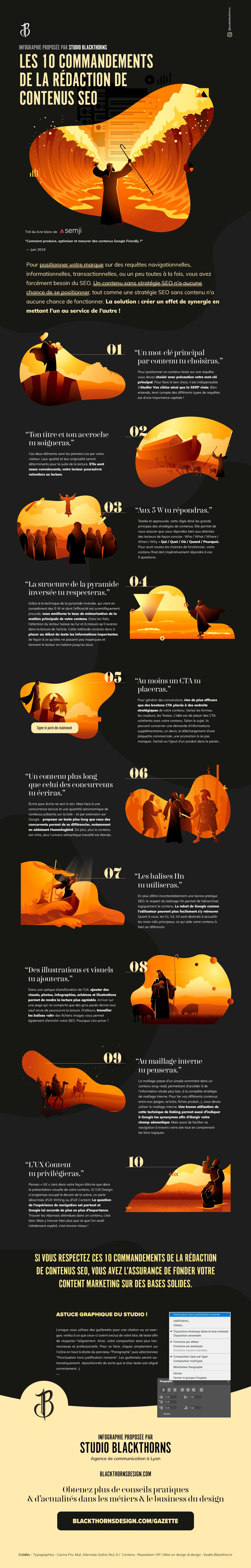 Infographie 10 commandements SEO