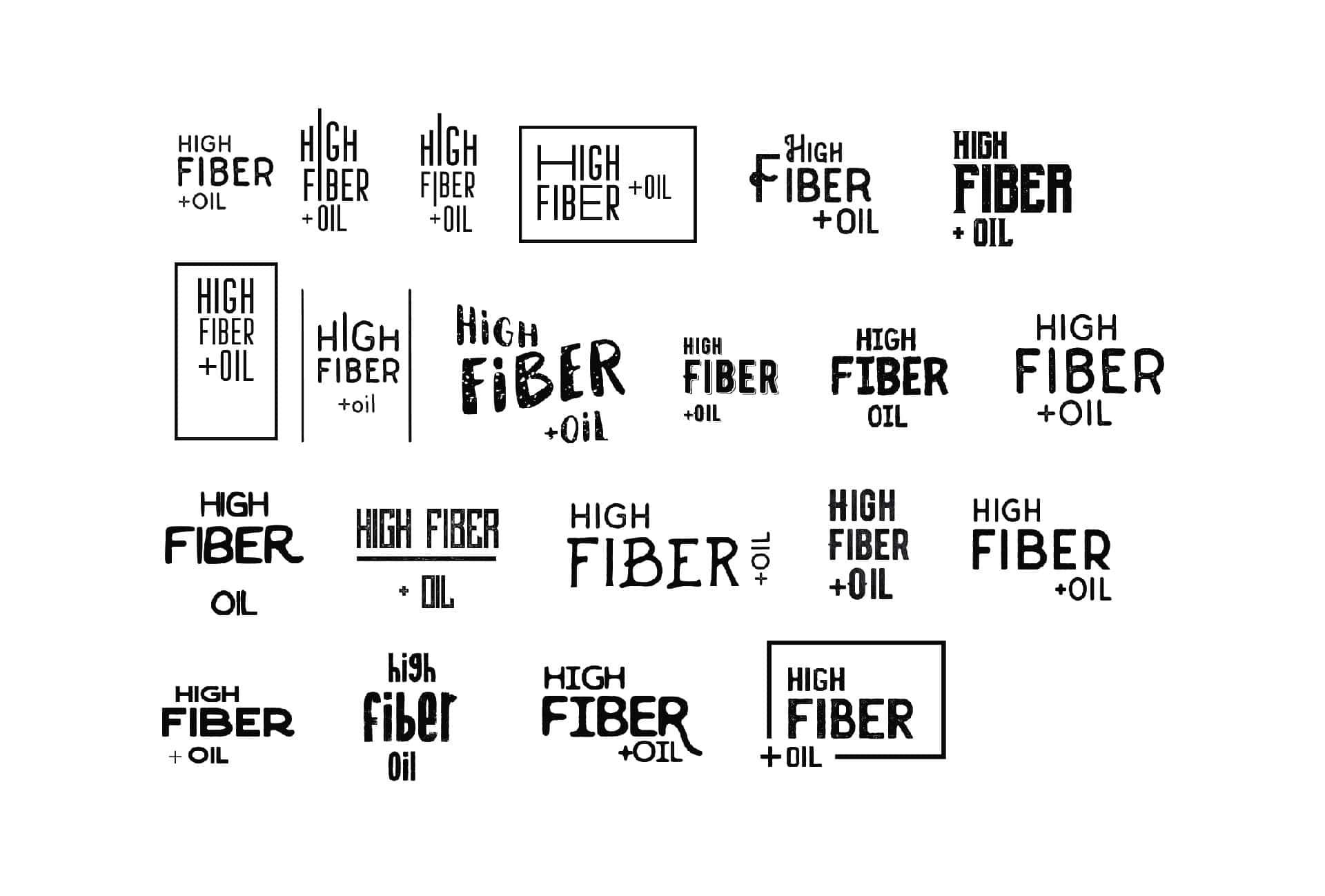 Recherche de logos pour l'aliment High Fiber
