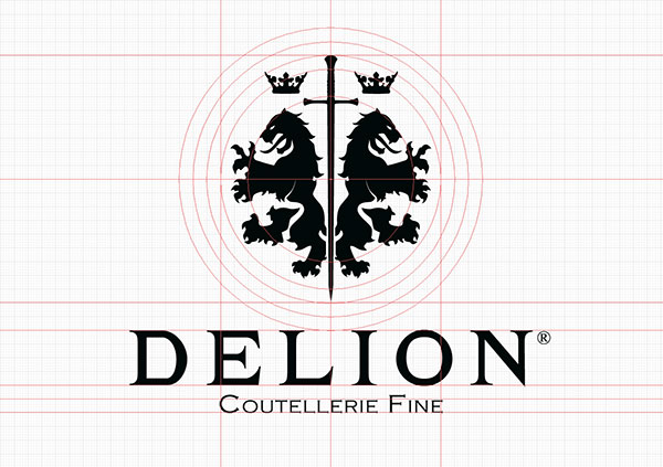 Construction du logotype Delion