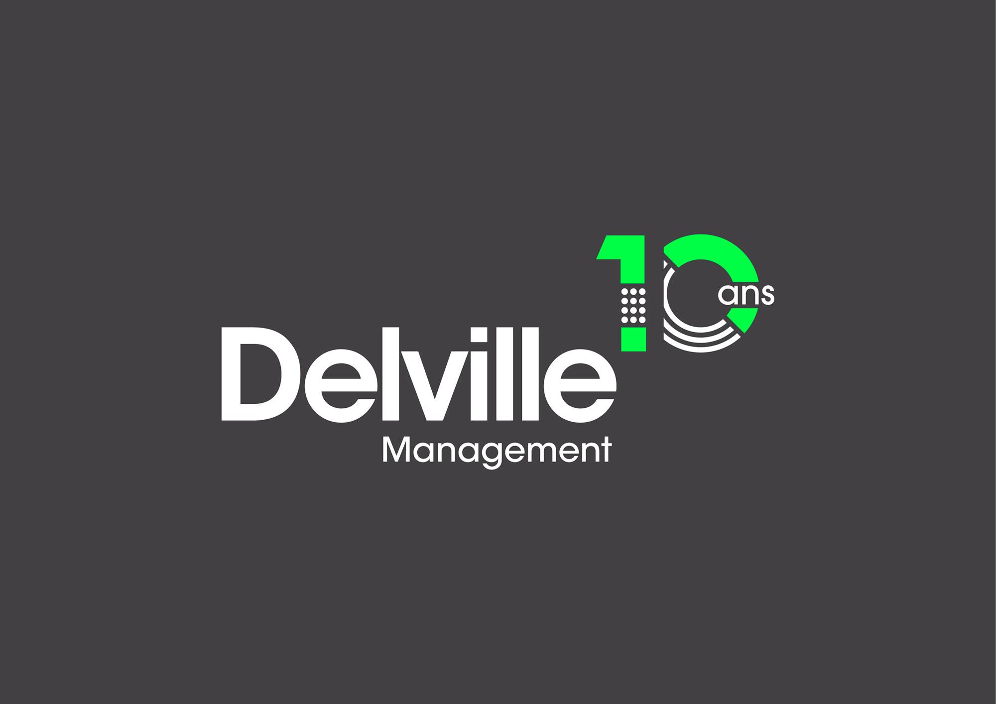 Logo Delville 10 ans fond gris