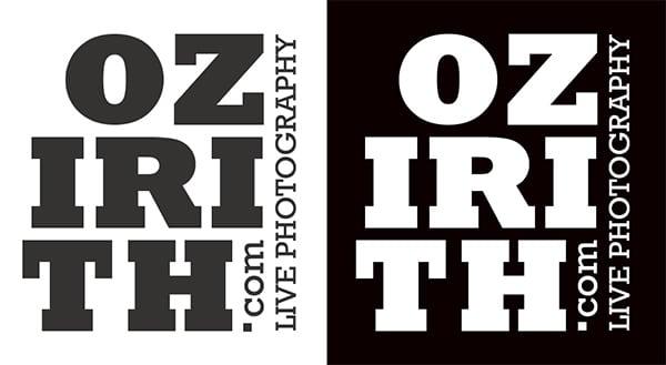 Création logotype Ozirith et sa déclinaison en négatif