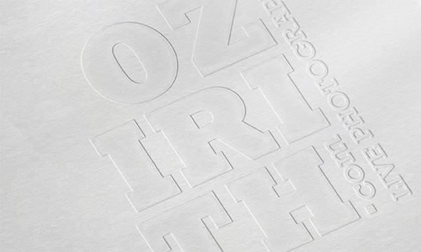 Création logotype Ozirith en gaufrage