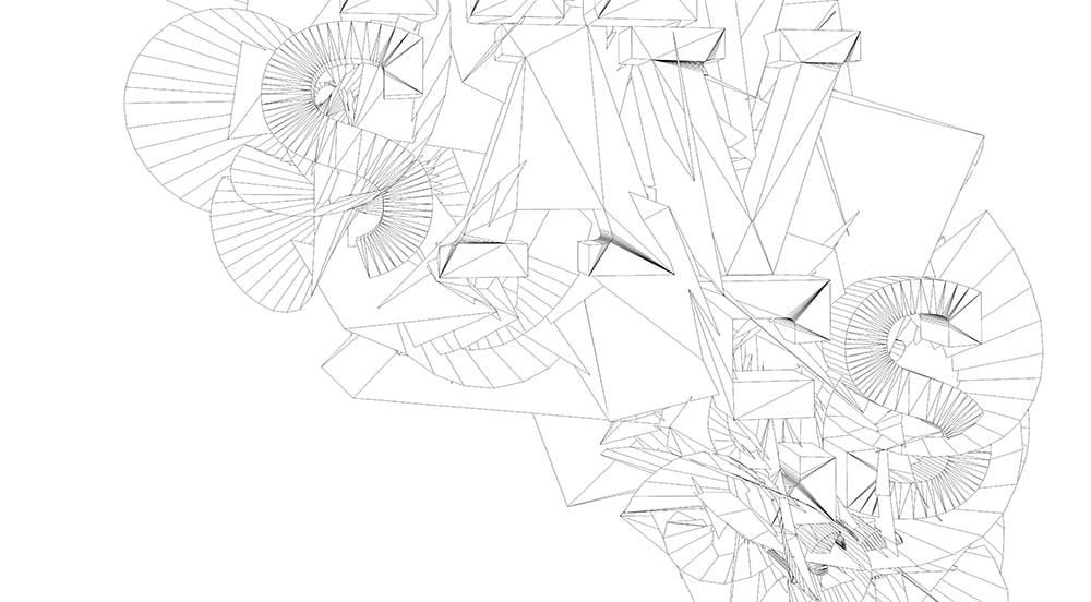 Art numérique et digital - Rendu fil de fer