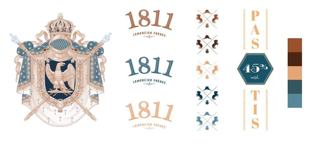 Pastis 1811 - Charte graphique