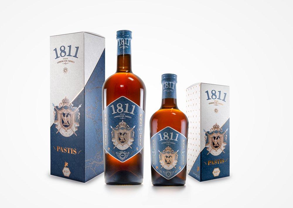 Packaging design et rebranding - Gamme Pastis 1811