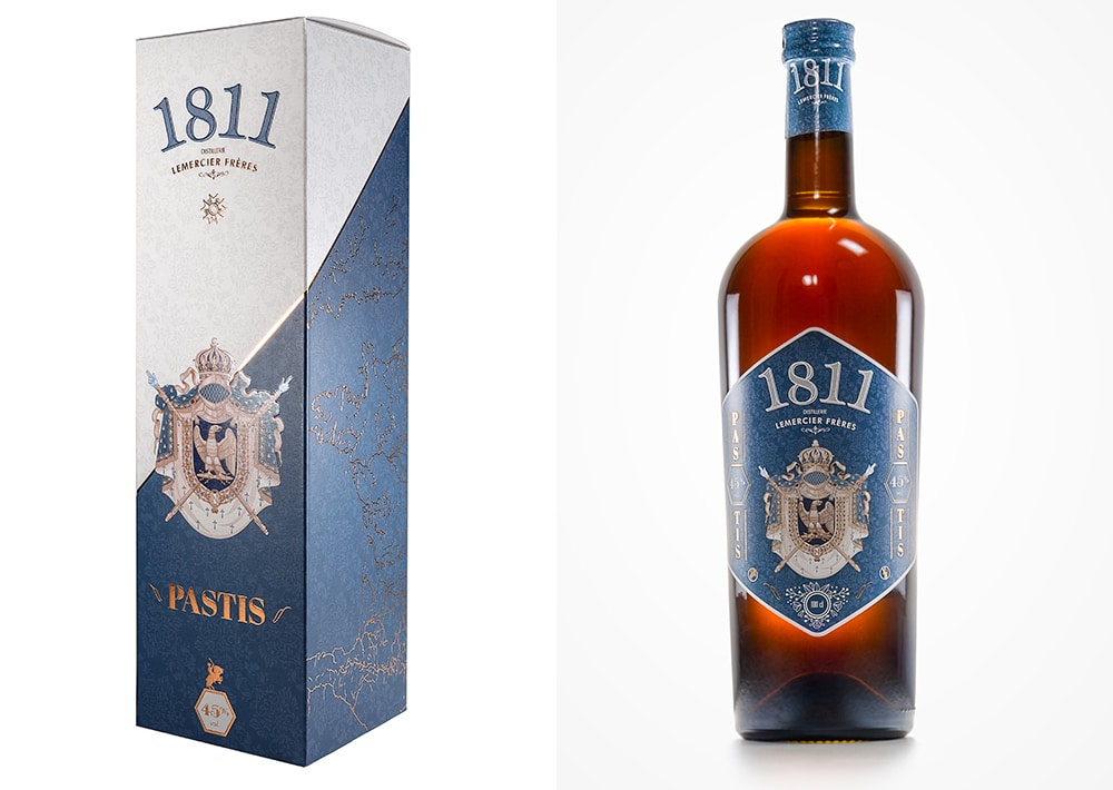 Packaging design - Pastis 1811 100cl / Distillerie Lemercier