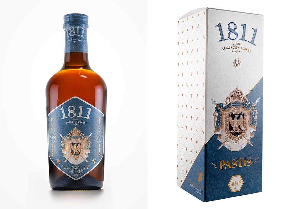 Packaging design - Pastis 1811 50cl / Distillerie Lemercier