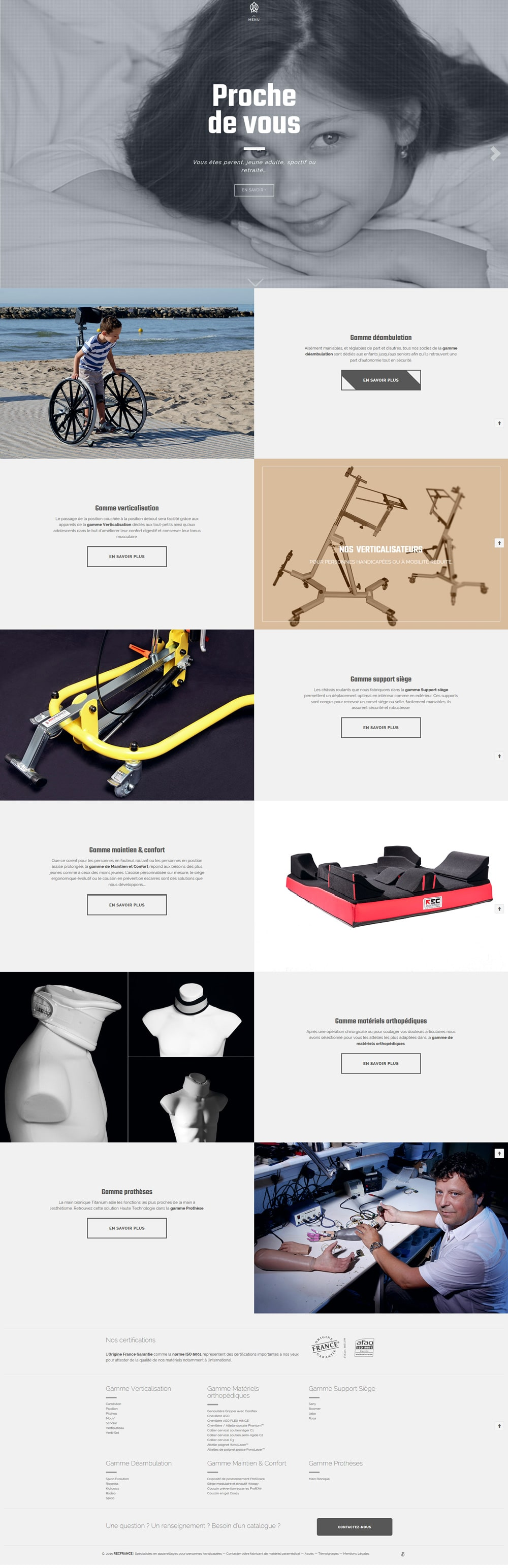 modern webdesign - landing page recfrance.com