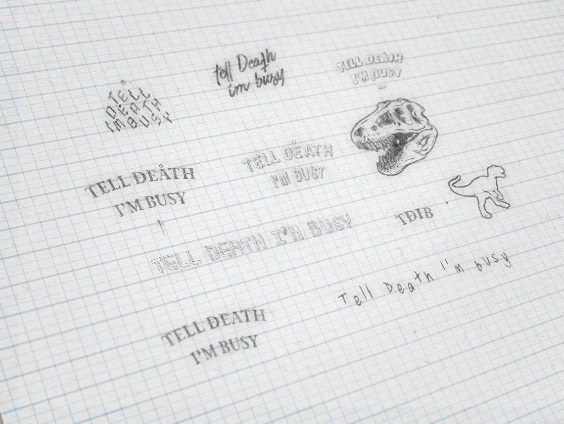 Identité visuelle du concept Tell Death I'm Busy