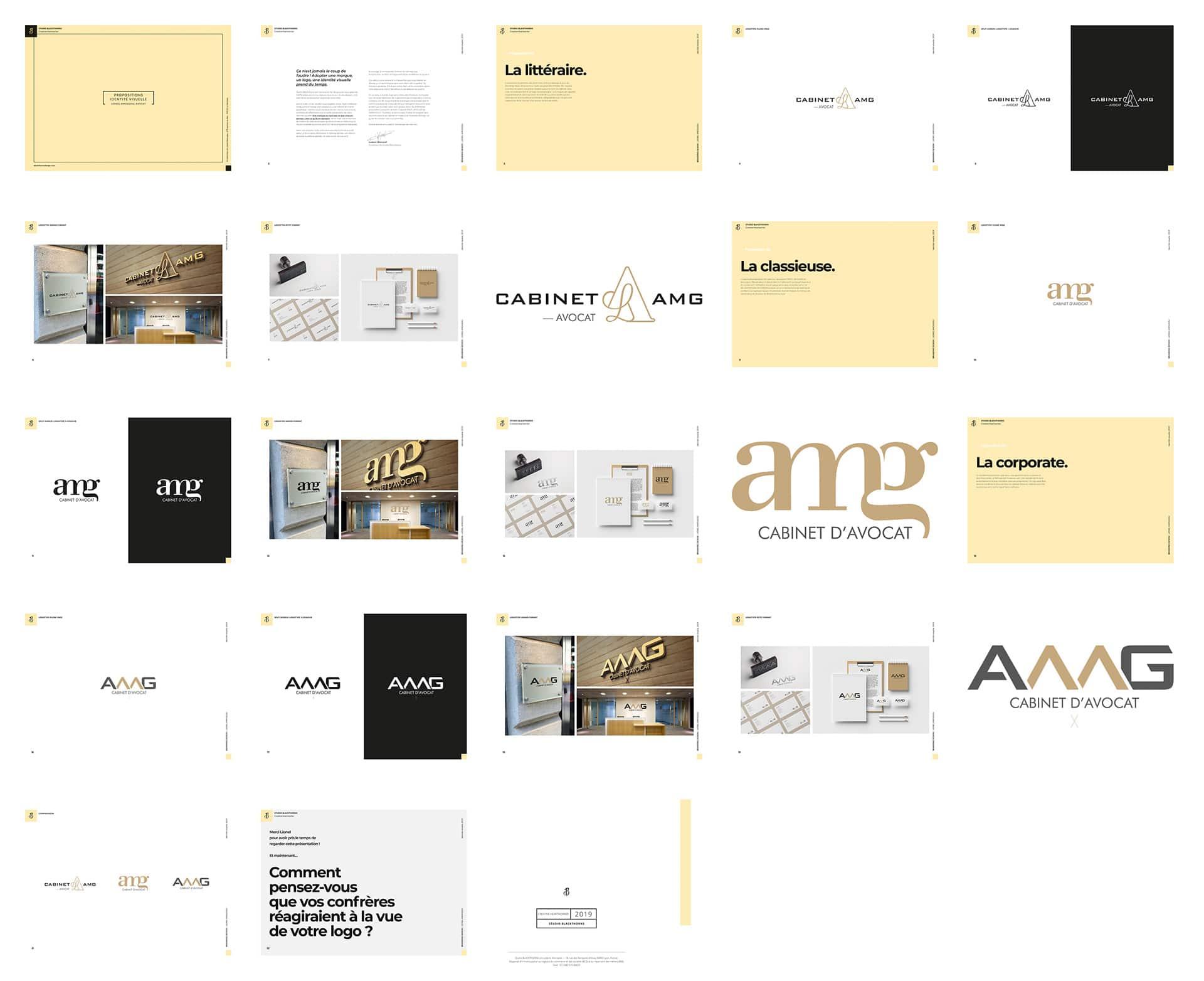 Plan stratégique de l'identité visuelle du Cabinet AMG