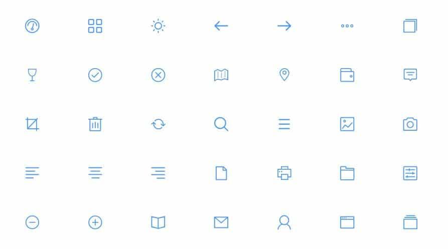 icônes SVG pour le Web