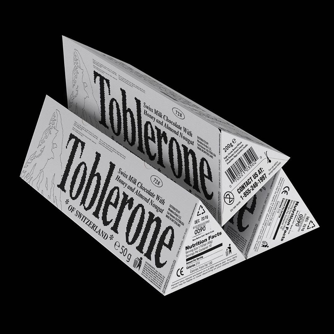 Packaging Toblerone