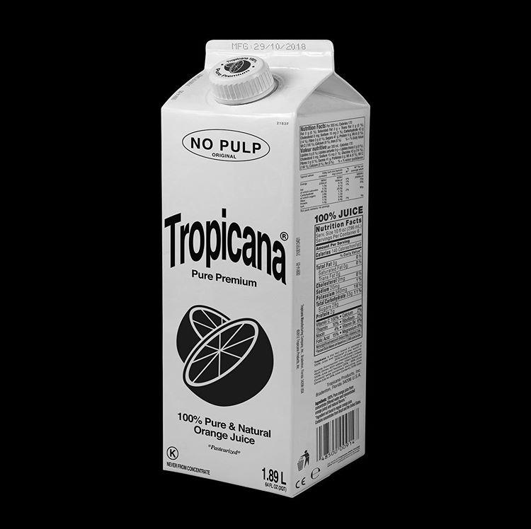 Packaging minimaliste Tropicana