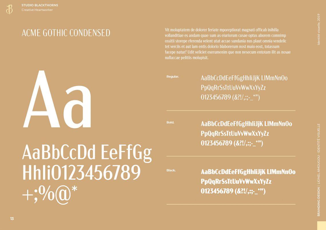 Typographie Identité visuelle